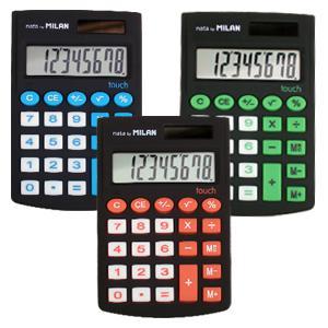 Kalkulators Milan Rubber Touch,  melns
