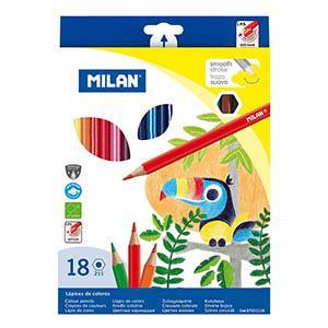 Zīmuļi krāsainie 18 krāsas Milan