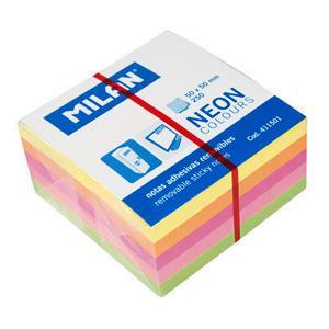 Līmlapiņas NEON 50x50mm,  250 lapas,  5 krāsas,  MILAN
