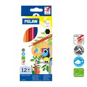 Zīmuļi krāsainie 12 krāsas Milan
