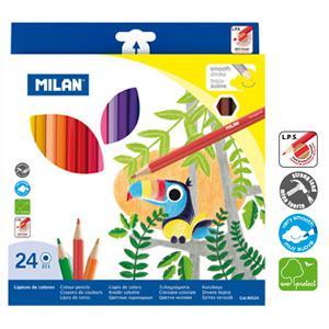Zīmuļi krāsainie 24 krāsas Milan