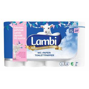 *Tualetes papīrs LAMBI 20m,  8 ruļļi,  3 slāņi