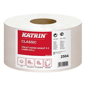 Tualetes papīrs Classic KATRIN Gigant S2,  2 sl. 150m,  balts