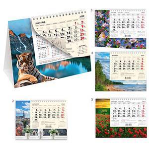 Galda kalendārs PYRAMID tonētas lapas,  2018g.