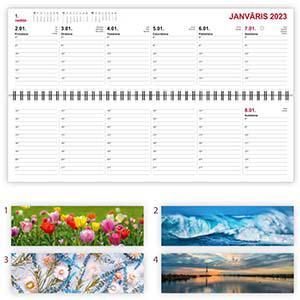 Galda kalendārs LONG,  1 nedēļa,  kartona vāki,  2020g