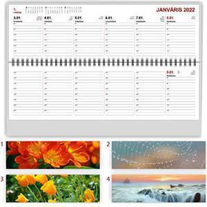 *Kalendārs galda LONG plastika vāks