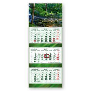Sienas kalendārs STANDART Plus,  trīsdaļīgs