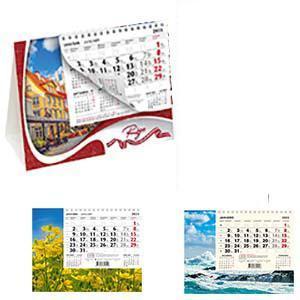 Galda kalendārs PYRAMID 3 valodās,  2018g.