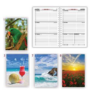 *Kabatas kalendārs PRAIM A6 ar spirāli,  plastikāta vāks