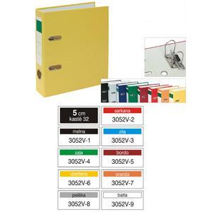 Reģistrs Multi-S,  A5/50mm,  PVC/PVC,  vertikāls,  dažadas krāsa