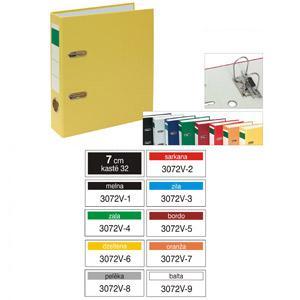 Reģistrs Multi-S,  A5/70mm,  vertikāls,  PVC/PVC, dažādas krāsas