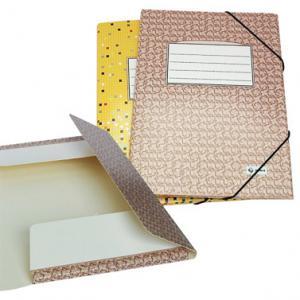 Mape Multi-S A4 kartona ar gumiju,  dzeltena-raiba krāsa