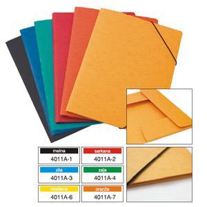 Mape Multi-S A4 kartona ar gumiju,  dažādas krāsas