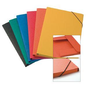 Mape A4/20mm kartona ar gumiju,  Multi-S,  oranža krāsa