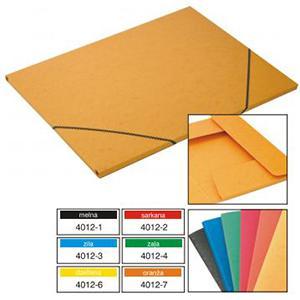 Mape ar gumiju,  A3,  kartona,  dažādas krāsas,  Multi-S