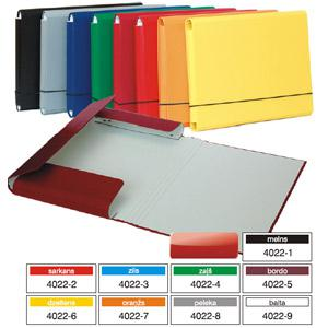 Mape ar gumiju A4 kartona ar PVC,  Multi-S,  dažādas krāsas