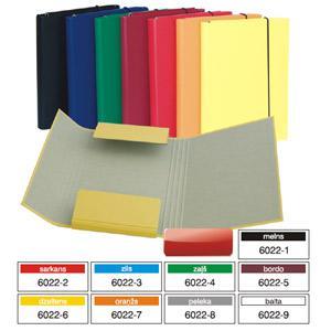 Mape Multi-S A5 ar gumiju, kartona ar PVC plēvi, dažādas krās.