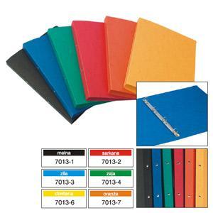 Mape Multi-S kartona A4 ar 4 gredz.(D=16mm),  dažādas krāsas