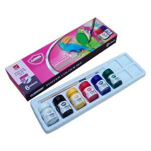 *Guaša krāsas MASTERART 6 krāsas ar otiņu