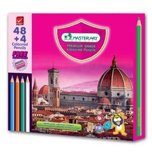 Zīmuļi krāsainie 48+4 krāsas MASTERART