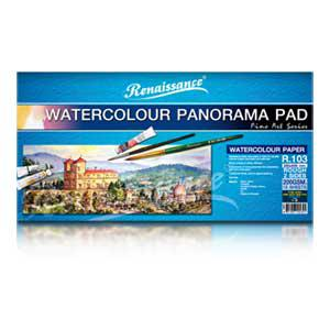 Akvareļu albums MASTERART PANORAMA R103 200g/m2 15 lapas