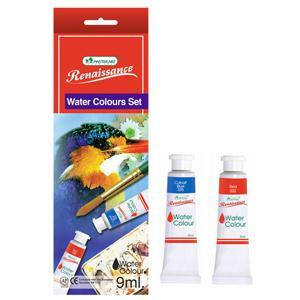 *Akvareļkrāsas MASTERART 12 krāsas x 9ml tūbiņā