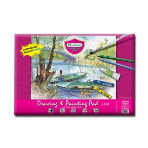 Akvareļu albums J104 190x280mm, 15 lapas, 150g/cm2 MASTERART