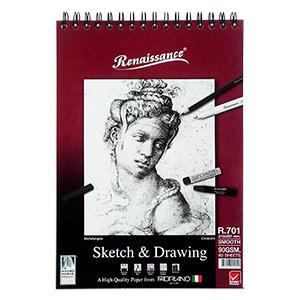 Albums Sketch&Drawing R701, A4/60 lap., 90g/m2 Renaissance