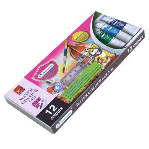 *Akvareļkrāsas 12 krāsas x 5ml tūbiņā MASTERART