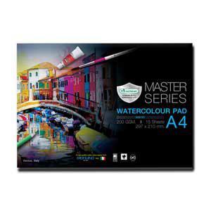 Akvareļu albums A4 15 lapas, 200g/m2,  MASTERART
