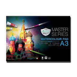 Akvareļu albums A3,  15 lapas, 200g/m2 MASTERART