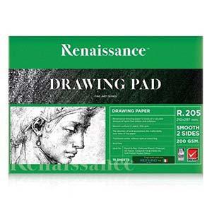 Zīmēšanas albums R205 A4/15 lapas, 200g/m2, Renaissance