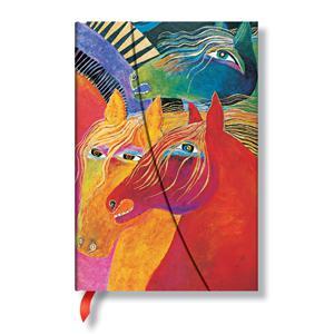 Piezīmju grāmata Wild Horses of Fire,  100x140mm
