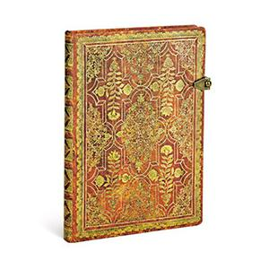 Piezīmju grāmata Fall Filigree Persimmon, līniju,  13x18cm, 72l