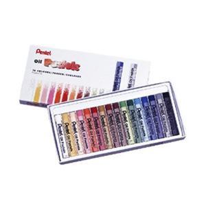 Eļļas pasteļkrītiņi 16 krāsas OIL PASTELS PENTEL