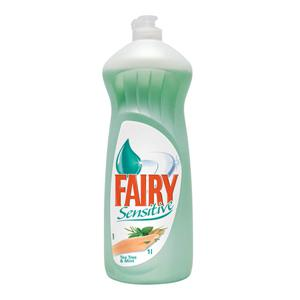 FAIRY Sensitive Tea tree & Mint 1000ml trauku mazg.līdzeklis