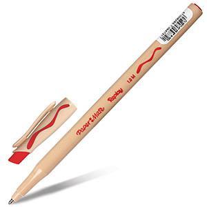 Pildspalva lodīšu ar dzēšgumiju PAPER MATE sarkana