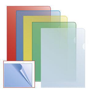 Папка-уголок матовая A4 синяя
