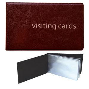 Vizītkaršu bloks 24 vizītkartēm,  ECO bordo