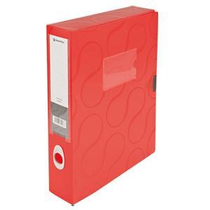 Arhīva kārba A4/55mm Omega,  Panta Plast,  sarkana