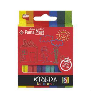 Krītiņi krāsainie 6 krāsas Panta-Plast