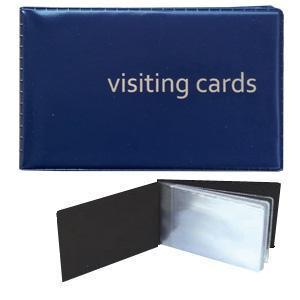 Vizītkaršu bloks 24 vizītkartēm tumši zils