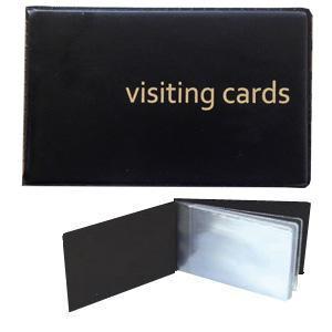 Vizītkaršu bloks 24 vizītkartēm,  melns