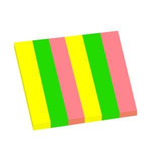 Indeksi 15x75mm,  50 lapiņas,  6 neon krāsas,  papīra