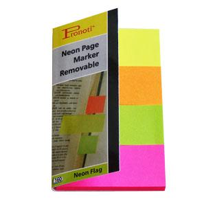Indeksi 20x48mm,  40 lapiņas,  4 neon krāsas,  papīra