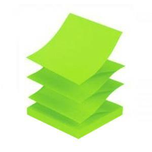 Līmlapiņas Z-veida,  75x75mm,  neon zaļas
