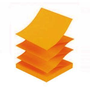 Līmlapiņas Z-veida,  75x75mm,  neon oranžas