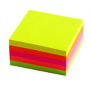 Līmlapiņas 51x51mm,  400 lapas,  5 neon krāsas
