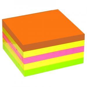 Līmlapiņas 75x75mm,  400 lapas,  4 neona krāsas