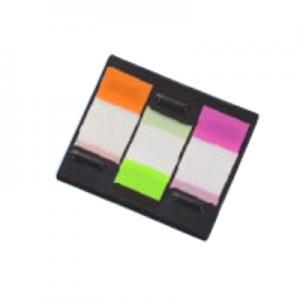 *Indeksi 20x48mm,  20 lapiņas,  3 krāsas,  Z-veida caurspīdīgas